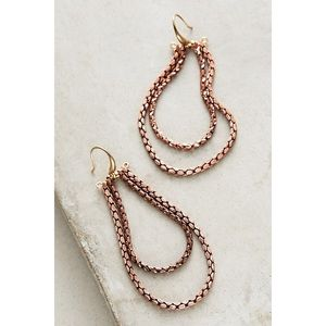 Anthropologie Serefina Copper Teardrop Earrings